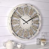 FirsTime & Co. Antique Plaques Wall Clock, 20', White