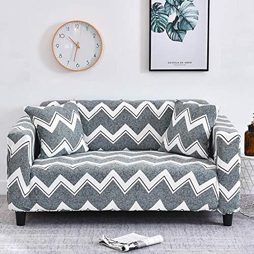ASCV Funda de sofá a Cuadros Funda elástica Fundas de sofá para Sala de Estar Esquina sofá Toalla Funda de sofá Protector de Muebles A9 4 plazas