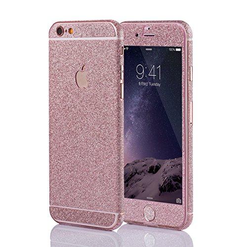 LAMINGO Glitzerfolie Glitter Skin Diamond Sticker Klebefolie für iPhone 6 Plus, 6s Plus in Rosé