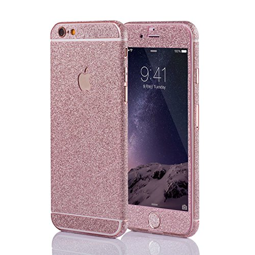 LAMINGO Glitzerfolie Glitter Skin Diamond Sticker Klebefolie für iPhone 6 Plus, 6s Plus in Rosé
