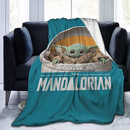 Baby Yo-da Manta de franela de forro polar manta acogedora suave de felpa para sofá, sala de estar, para niños y adultos