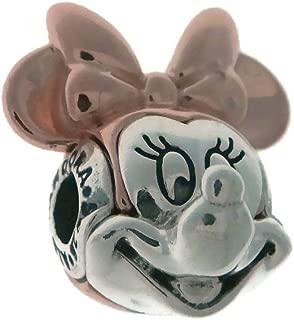 Rose Disney Two-Tone Minnie Portrait Charm 787504