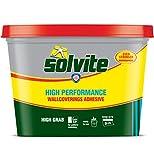Solvite - Adhesivo extra fuerte para papel pintado y textiles (5 rollos)