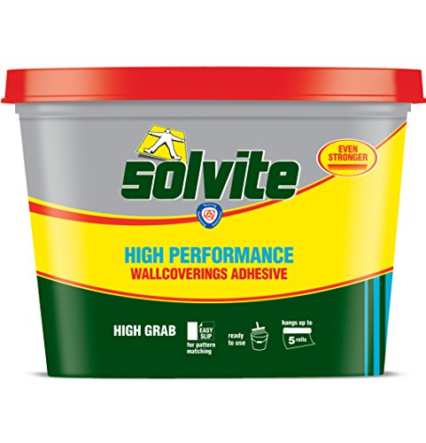 Price comparison product image Solvite Ready Mixed Wallpaper Adhesive Heavyweight And Textiles Hangs - Hangs upto 5 rolls