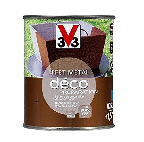V33 Peinture fer effet métal Idéco® préparation, Zinc noirci, 0,25L