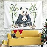 Buweirezhi Tapiz de pared con diseño de madre panda, multicolor,...