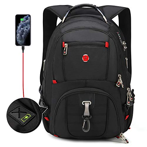 Travel TSA Friendly Laptop Backpack | Anti-Theft Bag with USB Charging Port and Combination Lock, Waterproof - Fits Most 17.3 Inch Laptops and Tablets OAA28015173B