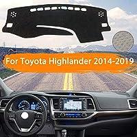 OZLXKNC ダッシュボードカバーダッシュマットライトパッドサンシェードカーペットカーアクセサリーを避ける、トヨタハイランダーXU50クルーガー2014〜2019用