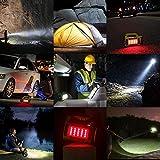 LE LED Handscheinwerfer 1000 Lumen, Wiederaufladbare CREE Akku Handlampe mit 3600mAh Powerbank, 10W Dimmbare Taschenlampe inkl. 3 Lichtmodi 2 Helligkeitsstufen, USB-Kabel für Notfall Camping usw. - 7