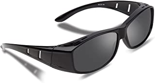 Ewin®メガネの上から掛けられる オーバーサングラス 偏光レンズ UV400 紫外線 99.9%カット 花粉サングラス メンズ レディース兼用