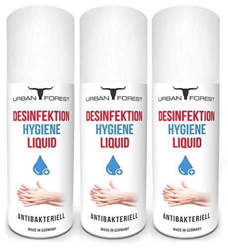 Hygiene Liquid - Mittel für Hand/Hände für unterwegs & zuhause von URBAN FOREST (3x 150ml)