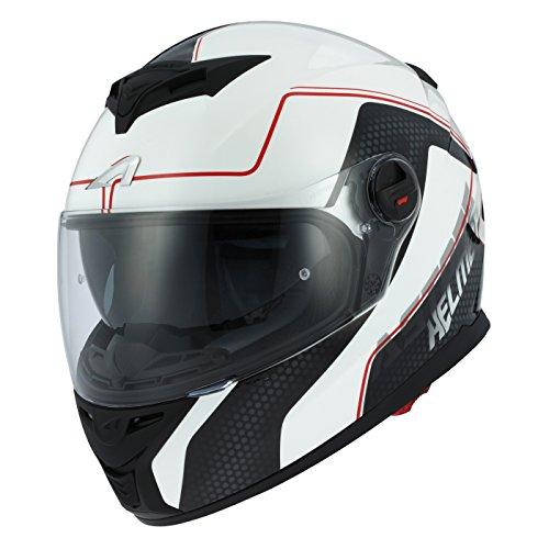 Astone Helmets gt800-alveo-rwm Motorradhelm GT 800, rot/weiß, Größe M