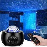 DZDZ Luz del proyector Galaxy DIRIGIÓ Nebulosa, Ola Ocean, Altavoz de Música Bluetooth, Lámpara de Nebula for Luz de Estrella de Dormitorio, Sala de Juegos Cielo Luz, Fiesta Noche Luz Ambiente