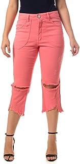 Calça Jeans Osmoze Boyfriend Cropped Rosa