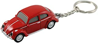 Volkswagen VW Classic Beetle Keychain Keylight Flashlight - Red