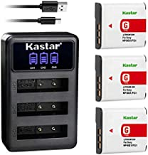 Kastar 3-Pack Battery + LCD Triple USB Charger Replacement for Sony NP-BG1 NP-FG1 and Cyber-Shot DSC-W220 DSC-H3 H7 H9 H10 H20 DSC-H50 DSC-H55 DSC-H70 DSC-HX5V DSC-HX7V DSC-HX9V DSC-HX10V DSC-HX30V