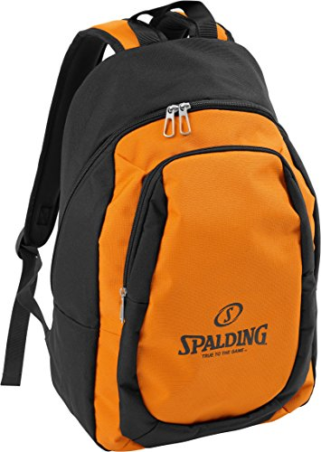 Spalding Essential Mochila  Unisex niños  Multicolor  Naranja Negro   15x24x45 cm  W
