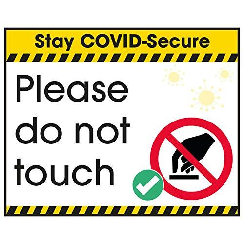 V Safety CV162CU-S Vsafety COVID-Secure Aufkleber – Please Do Not Touch 100 mm x 80 mm, selbstklebendes Vinyl