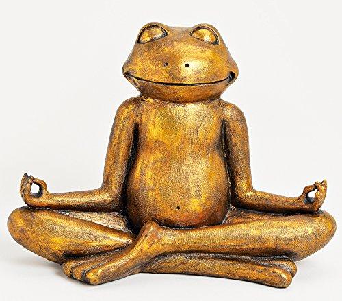 Wurm Design XXL Frosch Relax Gold 43 x 29cm Relaxfrosch Yoga Yogafrosch