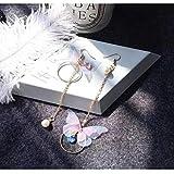 Nobranded Lovely Purple Butterfly Stud Pendientes Pendientes Lindos de Esmalte para Mujeres Asesor de joyería de Moda