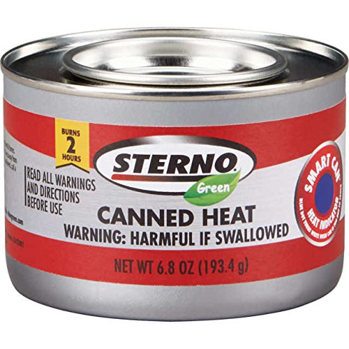 STERNO Green Ethanol Gel Chafing Fuel 2 Hr Canned Heat 6.8 OZ cans -case of 24