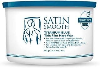 Satin Smooth Titanium Blue Thin Film Hard Hair Removal Wax 14oz.