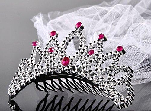 Verkauf durch Lollipop 1 Stück Dekorative Krone (Haarkämmchen) mit Schleier