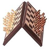 LTCTL ajedrez Juego De Ajedrez Magnético con Tableros De Ajedrez Plegable De Cuero Piezas De Ajedrez De Alto Grado Y Bolsillo De Cordón para Juego de ajedrez (Color : Chess Set)