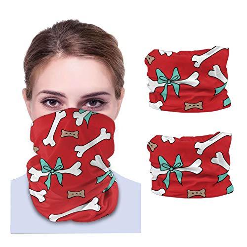 Nother Pañuelo para hombre y mujer con huesos de perro, multifuncional, pañuelo para cuello, pasamontañas