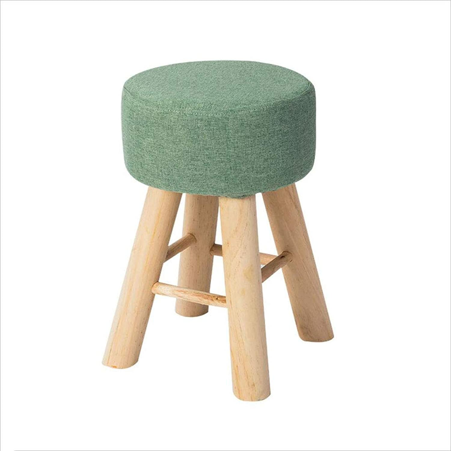 Solid Wood stools Home Small Benches Small stools Fashion Creative Small Chairs Stools Fabric Makeup stools Dressing stools, 43×28cm, 5