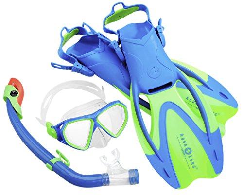 Aqua Lung Sport La Costa Junior Pro Dive Kinder 3er Set (Tauchmaske, Schnorchel & Flossen) inkl. Beutel - 35-39 Aqua