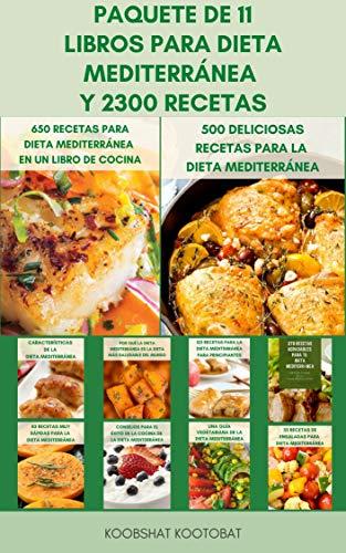 Paquete De 11 Libros Para Dieta Mediterránea Y 2300 Recetas : La...
