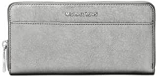 8fde46ff3ed2ca Michael Kors Light Pewter Metallic Money Pieces Boxed Zip Around Wallet