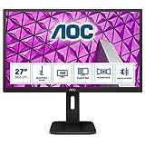 AOC Pro-Line 27P1 Pantalla para PC 68,6 cm (27') Full HD LED Plana Mate Negro - Monitor (68,6 cm (27'), 1920 x 1080 Pixeles, Full HD, LED, 5 ms, Negro)