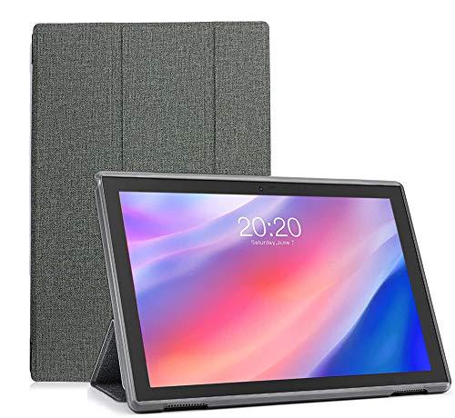 YGoal Custodia per Teclast P20HD - Slim Sottile Leggera in PU Pelle + PC Back Case Folio Cover Protettiva Case per Teclast P20HD / AOYODKG A39 Tablet, Grigio