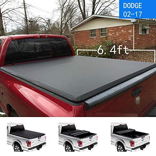 MAGO 2002-2017 Dodge Ram 1500/2500/3500 Tonneau Cover UV Resistant PVC Lederen Vouwhoes Past 6.4Ft Truck Cover