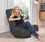 High Back Folding Floor Gaming Chair,360-Degree Swivel Floor Lazy Sofa Chair,High Back Padded Backrest Lounger Sleeper Game Rocker for Teens Adults (Grey)