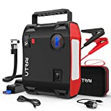 Portable Jump Starter with Air Compressor, UTRAI Jstar 5 150 PSI 2000A 24000mAh(8L Gas 7.5L Diesel Engine) 12V Battery Jump Pack with Emergency Light LCD Screen USB QC3.0 for Cars, Trucks, SUV