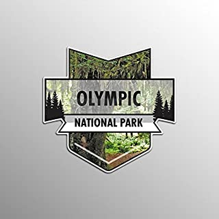 JMM Industries Olympic National Park Vinyl Decal Sticker Car Window Bumper 2-Pack 4.7-Inches by 4.4-Inches Premium Quality UV Protective Laminate NPS045
