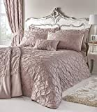 Homespace Direct Bentley Blush Woven Jacquard Throwover copriletto coperta, copriletto & Shams Set