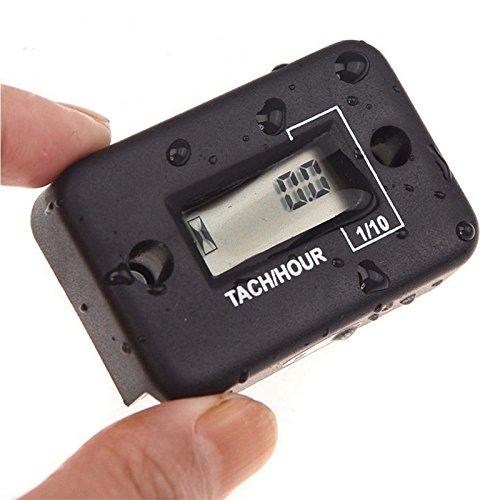 Bluesees Hour Mètre pour ATV Moto Dirt Ski imperméable Hour Mètre Digital LCD ATV Générateur de Moto Étanche câble utile
