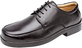 Mens Soft Leather XXX Extra Very Wide Fit Lightweight Lace Up Shoes Black Size 6 7 8 9 10 11 12 13 14