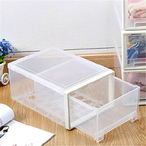 Boîte à chaussures empilable en plastique avec porte transparente