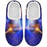 Linomo Galaxy Space Planet Universe - Zapatillas para mujer, para casa, para interior, zapatos de casa, zapatos de dormitorio, multicolor, 45/46 EU