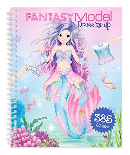 Depesche 10445 - Malbuch Dress me up Stickerbook, Fantasy Model