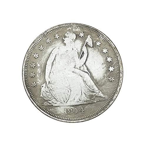 Ccyyy Moneda de Plata colección Antigua, Estados Unidos 1844 Hecha de