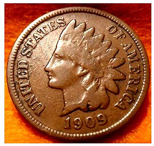 1909 1900-1909 HISTORIC COPPER U.S. INDIAN HEAD PENNY! BUY 2 GET 1...