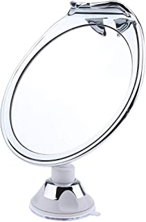 Blesiya Fog Free Shower Mirror with Power Locking Suction Cup, Built-in Razor Hook and 360° Swivel Rotation for Bathroom Shaving