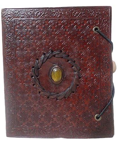 Mad Over Shopping, Cuero genuino Libro de las Sombras Papel en blanco Diario Wicca Memory Classic Diary