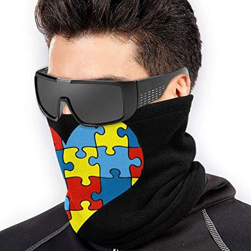 TJKK Autismo Puzzle Corazón Micro Fibra sin costuras a prueba de viento Bandana y máscara facial y calentador de cuello Escudo – para hombre y mujer